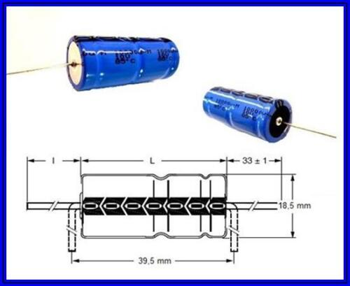VISHAY ALU-ELKO 10000µF 10V 18 x 38 mm 85° AXIAL bedrahtet  2 Stück