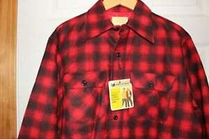 NEW-Vintage-Sears-Perma-Prest-Mens-Quilt-Lined-Flannel-Shirt-Large-NWT-Buffalo