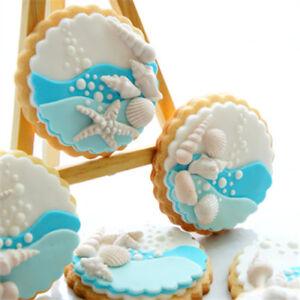 Sea-Shell-Silicone-Fondant-Mould-Cake-Sugarcraft-Starfish-Icing-Mold-Decorating
