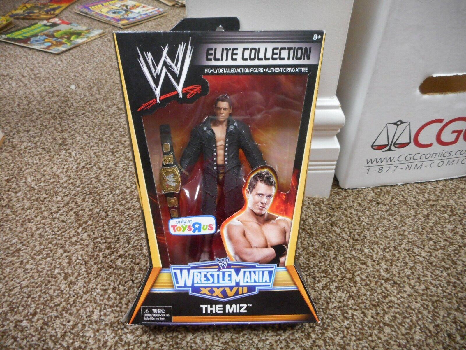The Miz WWE Elite MIB MIB MIB SEALED scatola MOC Wrestleuomoia XXVII 27 giocattoli R Us Mattel TRU ed33b4