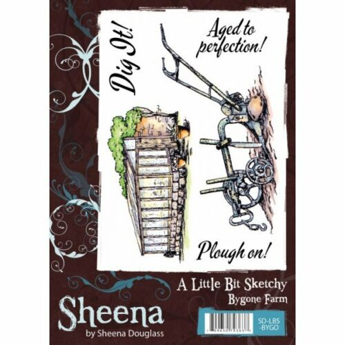 Sheena Douglass A LITTLE BIT SKETCHY STAMP SET A6 Unmounted Stamps BYGONE FARM