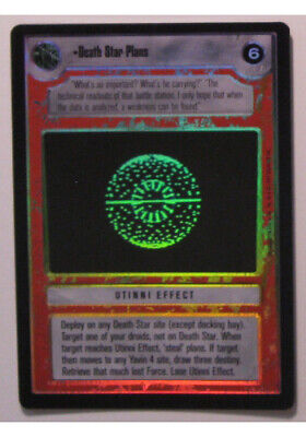 Star Wars CCG Reflections Death Star Plans FOIL NrMint-MINT SWCCG