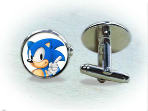 Round Cute Hedgehog Square Tie Clips