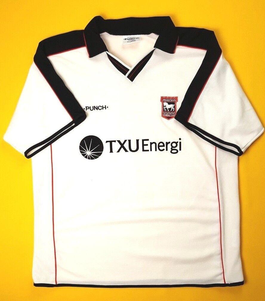 371f27a1afe 4.8 5 Ipswich Town jersey XL 2000 2001 away shirt soccer football Punch ig93