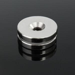 2X-30X5MM-5MM-Loch-N50-Super-Stark-Rund-Scheibe-Selten-Erde-Neodym-Magnet-Faddi