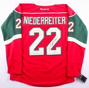 cheap for discount d4ffe 49c55 Details about Nino Niederreiter Signed Minnesota Wild Jersey (PSA COA)