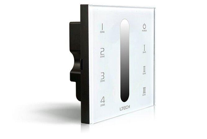 nuovi prodotti novità LTECH dx5 4 4 4 zone wireless 2.4ghz DMX 512 LED touch dimmer panel  consegna lampo