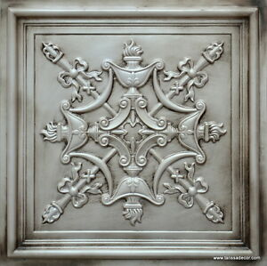 Image Is Loading Decorative Faux Tin Ceiling Tile Td07 Ant White