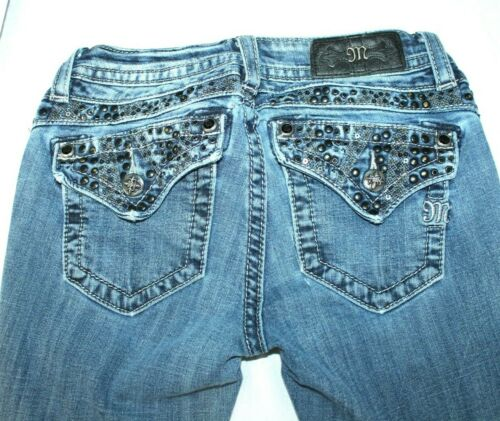 Mid C1 Embellished Pocket mp7209b Studded Jeans 25 rise Cut Me Sz Boot Miss Hw5Zx6O4