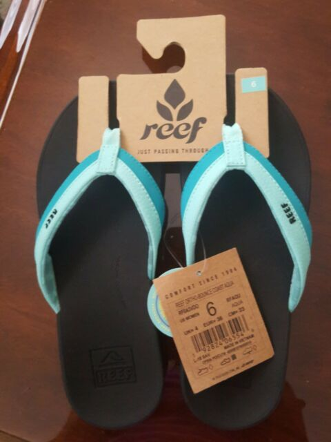 Aqua All Sizes Reef Ortho Bounce Coast Womens Footwear Flip Flops