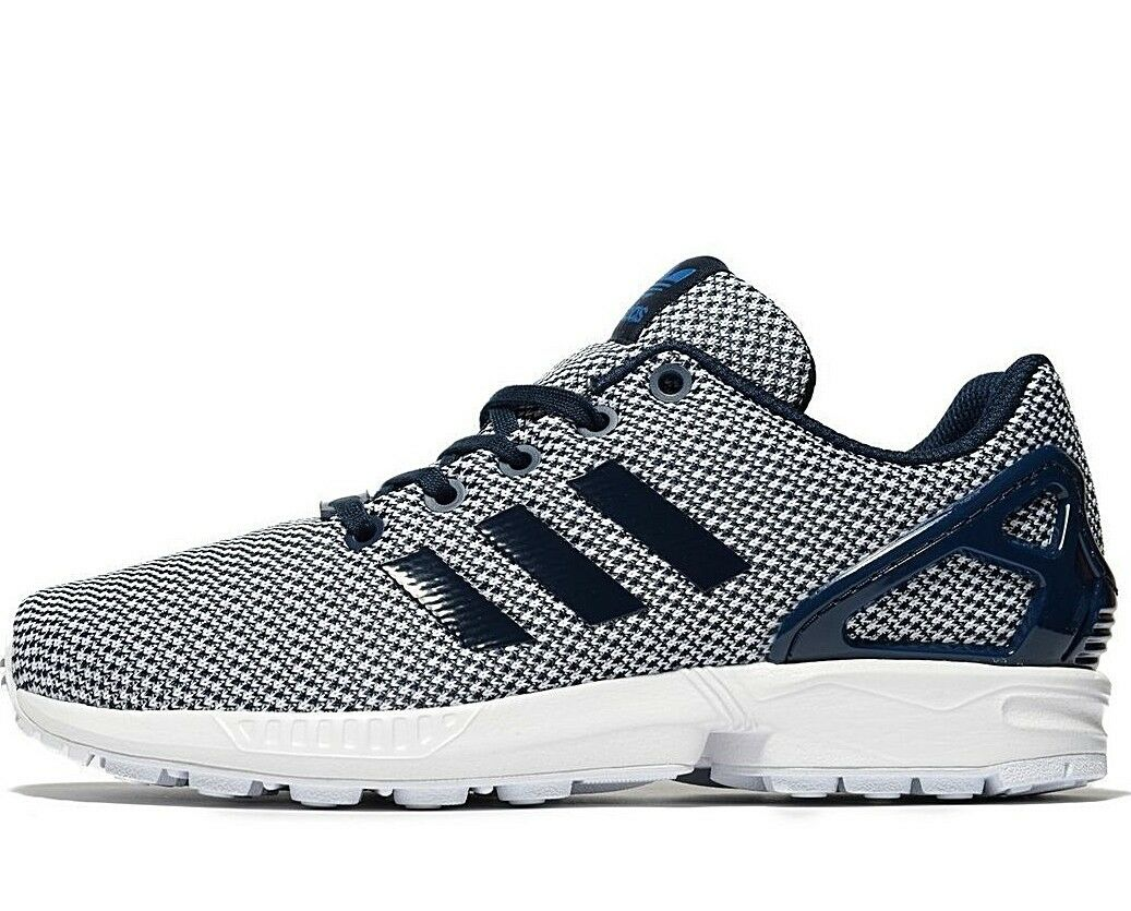 Adidas Originals ZX Flux ® EU ( Size UK 5 EU ® 38 ) Conavy Blue Knit Upper Latest NEW 175a7b