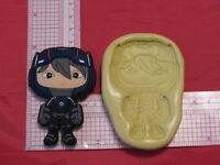 Hero Character Silicone Push Mold Cookie 179 Candy Chocolate Resin Clay Fondant