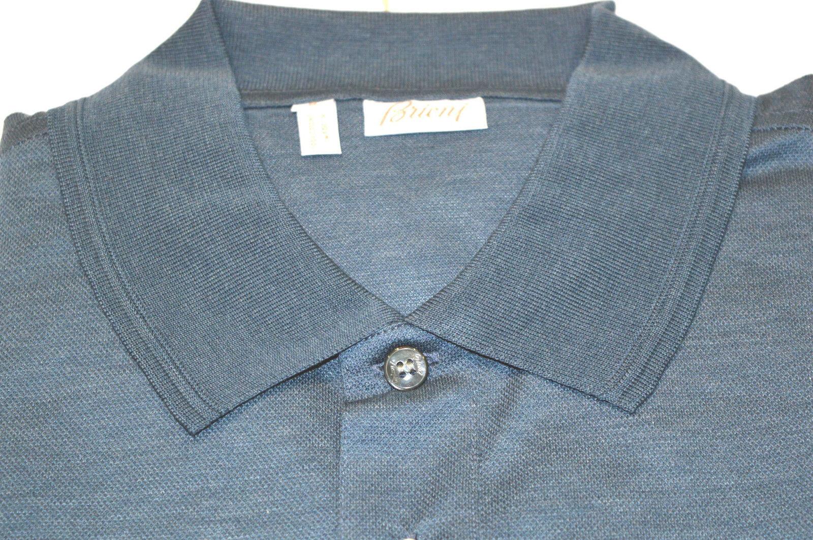 NEW  BRIONI Polo Polo Polo  Short Sleeve Cotton Size S Us Eu 48 (SpStampA) 5095d5