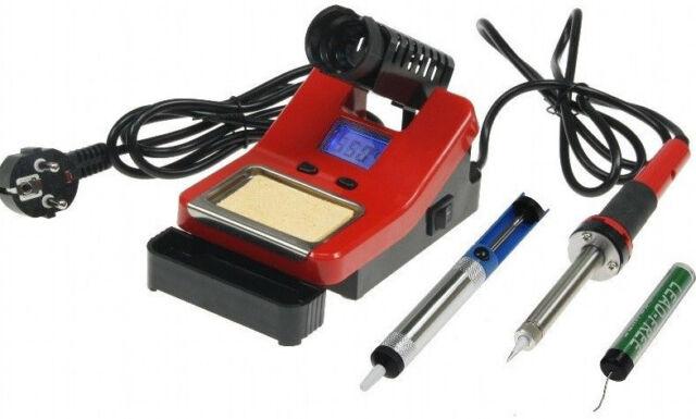 Regelbare digitale Lötstation Lötkolben ZD-8906L 160-480°C 48W mit LCD Anzeige