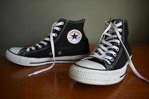 Star Chuck Taylor Black High Tops Size