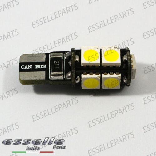 2X LED TARGA DA 9 LED T10 W5W CITROEN C4 II CANBUS 6000K NESSUN ERRORE