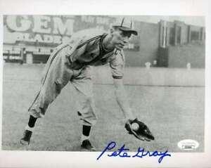 Pete Gray JSA Coa Hand Signed 8x10 Photo Autograph