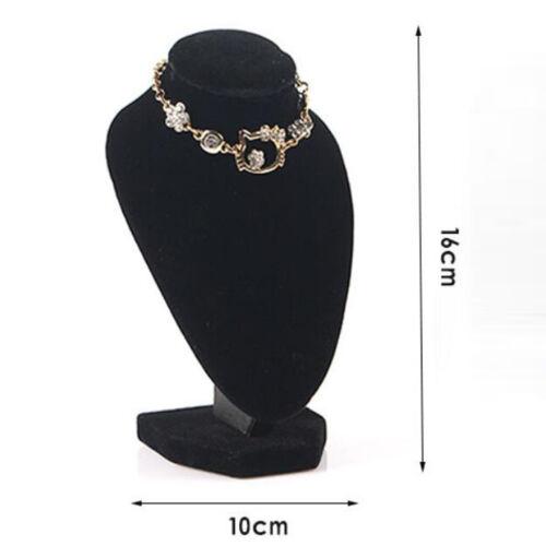 4 pcs Schwarz Samt Schaufensterpuppe Schmuckbüste Halskettenständer