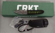 COLUMBIA RIVER KNIFE 2480 CRKT AKARI LUCAS BURNLEY FIXED BLADE WITH SHEATH NEW