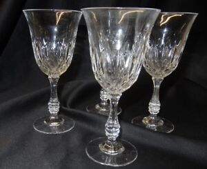 Fostoria-Glass-Set-of-4-Clear-Stem-Goblets-in-Original-Box-Made-in-USA