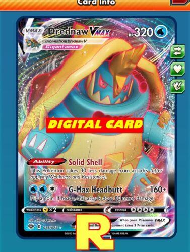 DIGITAL ptcgo in Game Card Pokemon TCG Online Full Art Drednaw VMAX