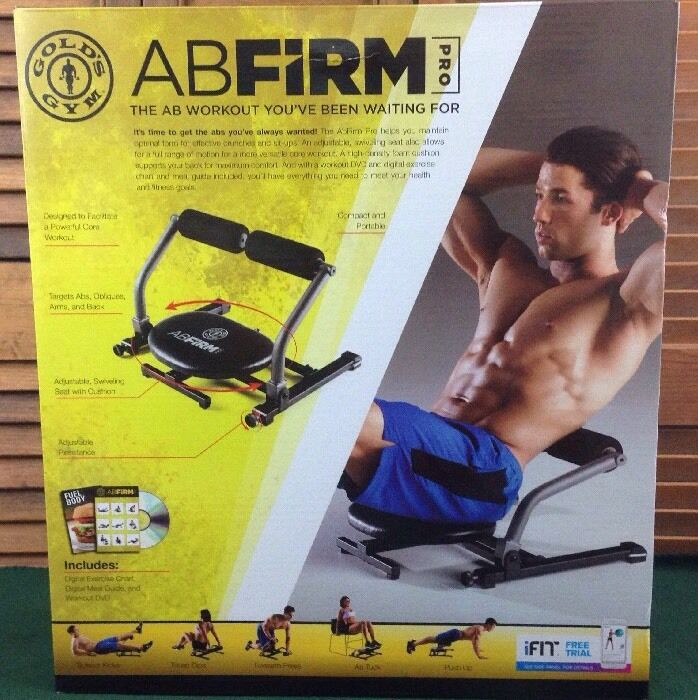 Gold's Gym ABFIRM PRO NEW SEALED CARTON