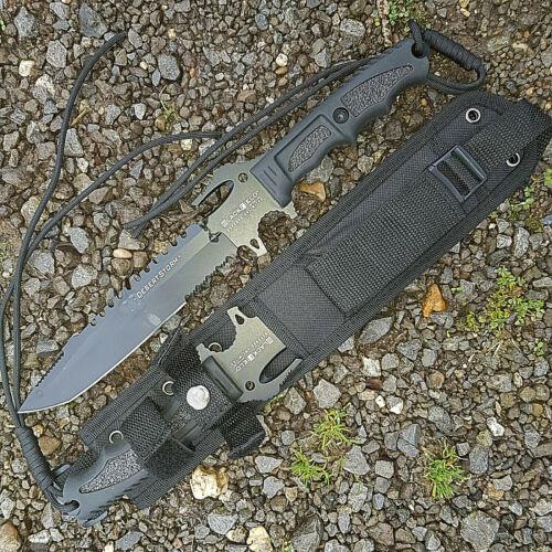5 in 1 Messer 440 BlackFlield B-Ware Gürtelmesser tactical Desert Storm 36cm.