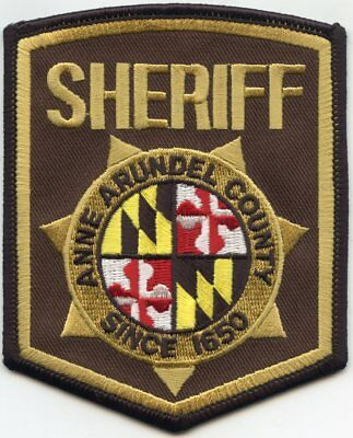 ANNE ARUNDEL COUNTY MARYLAND MD SHERIFF POLICE PATCH