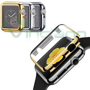 Custodia-Crystal-Chrome-cover-rigida-protezione-display-per-Apple-Watch-3-42mm