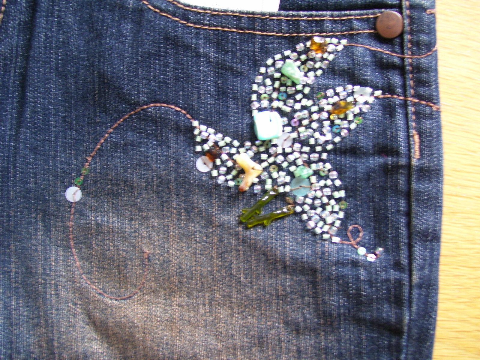Designer Designer Designer Damen Stretch Jeans Hose Stiefelcut Perlen Pailetten Gr 36 L33 NEU | Quality First  | Einfach zu spielen, freies Leben  | Ausgezeichneter Wert  | Exzellente Verarbeitung  | Für Ihre Wahl  efa886