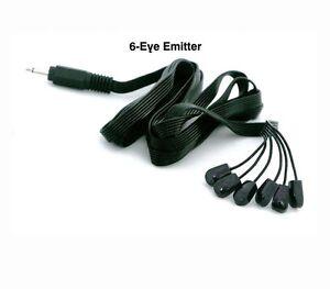 nextgen 6 eye emitter ir infrared cable cord tether next generation remote cable ebay. Black Bedroom Furniture Sets. Home Design Ideas