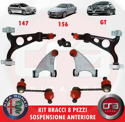 GT 8PZ RINFORZATI SPEED KIT BRACCI SOSPENSIONE ANTERIORI ALFA ROMEO 147-156