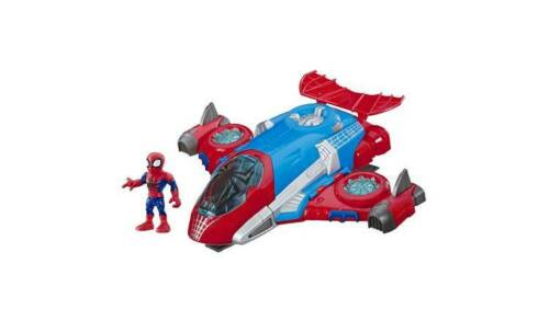 Super Hero Adventures Spider-Man Jet quarts Roll Down The réglable rampe NEUF