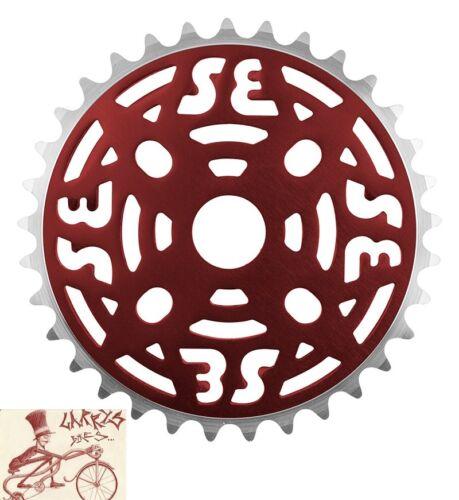 SE Racing Bikes Une Pièce Alliage 33 T anodisé rouge Chainring Sprocket