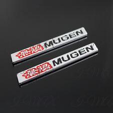 "2PCS Car Trunk Spoiler Mugen 3D Emblem Badge Sticker Decal For Honda Civic - 4"""