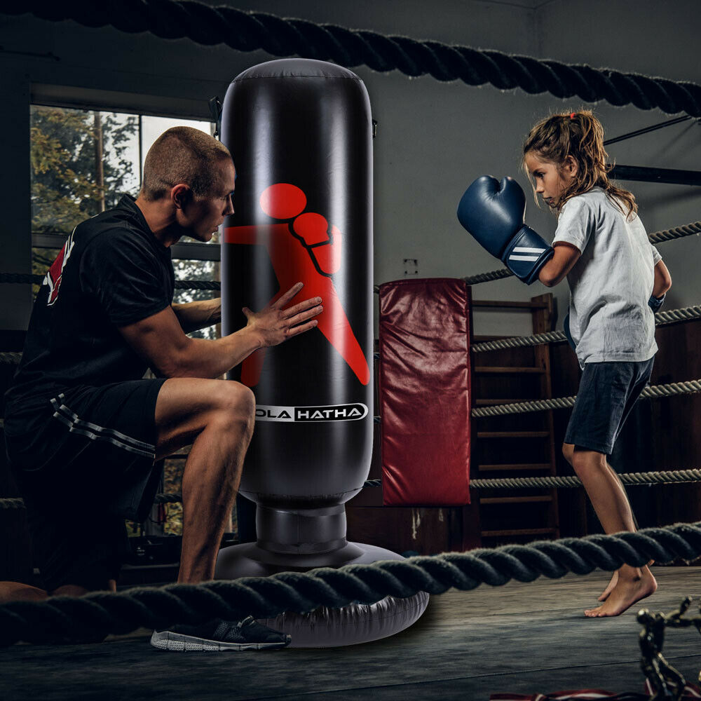 GOTOTOP 165 cm Standing Punch Bag Boxing Stand Children Adults Family