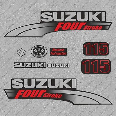 Suzuki 90HP Four Stroke Outboard Engine Decals Sticker Set reproduction 90 HP