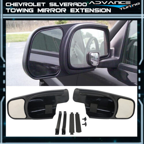 For 00-06 Silverado OE Factory Style Side View Towing Mirror Extension Pair