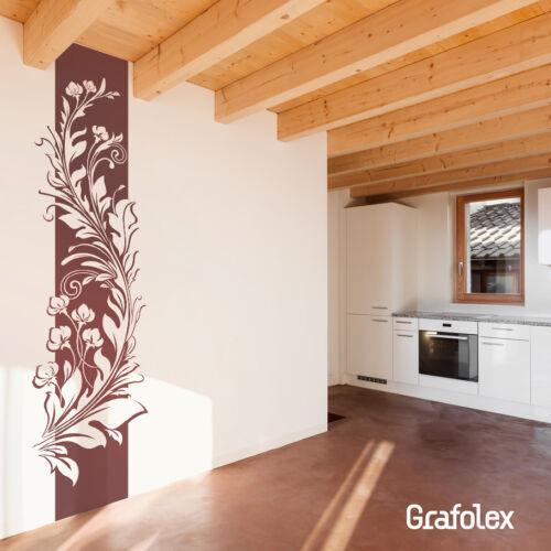 Murales Viña floral flores hibiscus rama pared Sticker Adhesivo de pared d307a