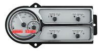 Dakota Digital 48 49 50 Ford Pickup Truck Gauge System Silver Red Vhx-48f-pu-s-r