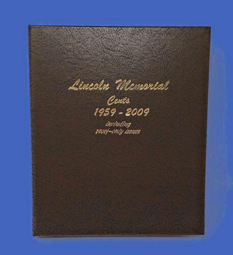 Dansco US Memorial Cent Coin Album 1958-2009 with Proof #8102