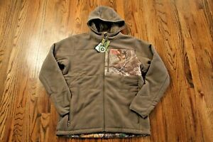 46-New-Under-Armour-Caliber-Sherpa-Hoody-Black-Rodeo-Orange-Mens-Size-Large