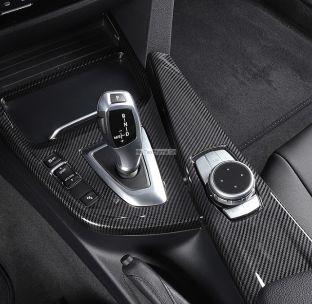 Real Carbon Fiber For BMW 3 Series F30 F33 F36 2013-2019 Gear Shift Panel Cover