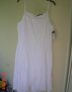 NWT RALPH LAUREN Weiß COTTON EMBROIDERY FITTED DRESS Größe 16