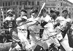 Babe-Ruth-Mickey-Mantle-Hank-Aaron-Ty-Cobb-Baseball-Signed-Autograph-A4-poster