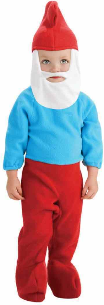 The Smurfs - Papa Smurf Gnome Fancy Dress Halloween Infant Toddler Child Costume