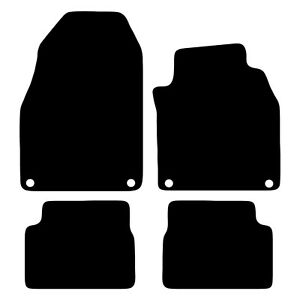 Tailored-Black-Car-Floor-Mats-Carpets-4pc-Set-with-Clips-for-Saab-9-3