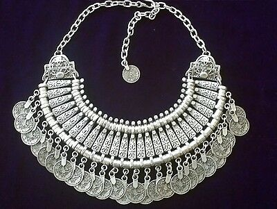Ottoman Turkish Style Beautiful Silver Plated Necklace 1003-26