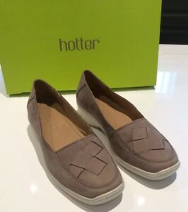 BRAND-NEW-LADIES-HOTTER-SHOES-HAVANA-SIZE-4-5-TRUFFLE-NUBECK