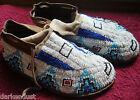 VINTAGE NATIVE AMERICAN BEADED MOCCASINS POW-WOW